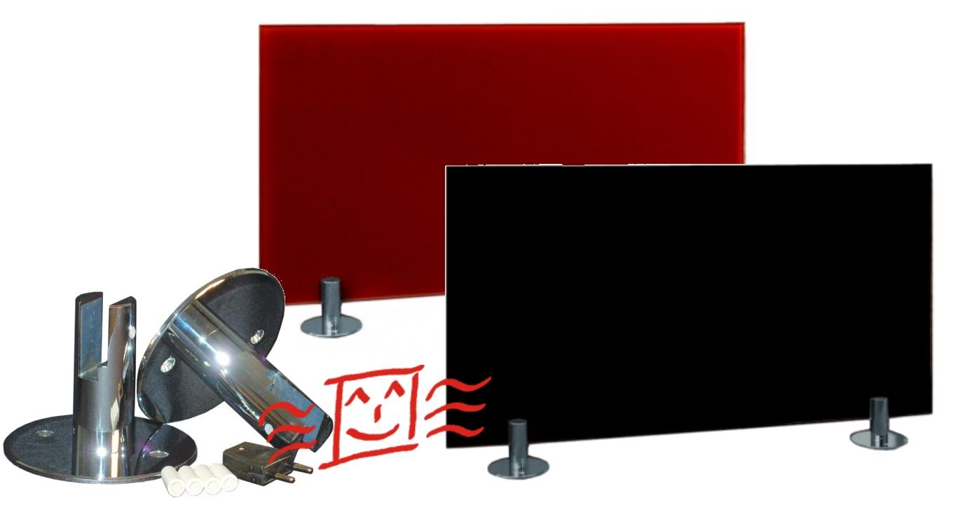 infraheat infrarot heizung glas spiegel rahmenlos sfchr. Black Bedroom Furniture Sets. Home Design Ideas