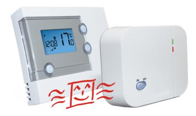 funk thermostat set mit wochenprogramm rt500rf 102 30 infrarotheizungen infraheat. Black Bedroom Furniture Sets. Home Design Ideas