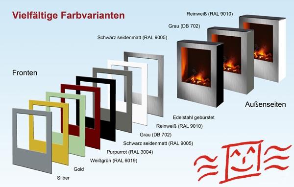 Infrarot-Kamin Farbvarianten